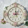 Resin art wall clock