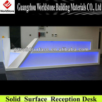 elegant reception desk/table/counter with LED light