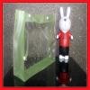Button Closure Transparent PVC Gift Bag