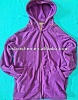 PLUS LADIES FLEECE JACKET WITH HOOD