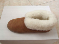 cow leather upper ,sheepskin lingindoor shoes