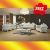 ES003 Hand craft European solid wood carving Italy top grain leather sofa