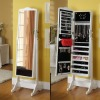 Jewelry Collection Cabinet with Dressing Mirror