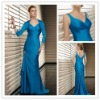 Free Shipping 2012 New Taffeta Lace Floor Length with a long sleeve jacket Mother of the Bride Dresses JYMD070