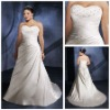 MWP1059 Elegant Sweetheart Beaded Custom-made Ruffle Flower Big Wedding Dress For Fat Women