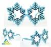 blue and black snowflower christmas(xmas) glasses without lenses gafas flor de nieve