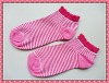 stripy poly-cotton ankle socks for girl