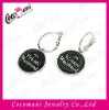 Customized Jewellery Stainless Steel Earrings Jewelry with Black Enamel