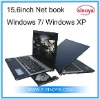 15.6inch AMD E450 Windows 7 laptop Notebook for System Dual Core AMD E-450 Bluetooth OEM LOGO Netbook Computer Desk top Computer