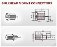 Bulkhead Mount F Type RF Coaxial Connectors