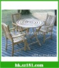 Natural modern garden table sets