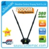 Widemac 1000mW Ralink 3072 300Mbps 2T2R High Power Wireless USB Adapter With Dual 15dBi Antenna