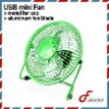 metal Mini USB Fan with aluminum blade