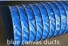 pvc canvas ventilation air duct(blue color)