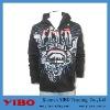 men's hip-pop plus size zipper scrawl hoody jacket