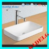 Europa Zeus 1TH White Ceramic Drop-in Bathroom Basin Sink K332