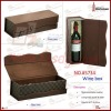 2012 new attractive stylish PU leather wine box for 1 bottle