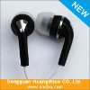 all black earphone in brand logo and name