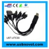 10 in 1 Universal USB Charger Cable Car charger& Travel charger for mobile phone, MP3 MP4