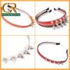 020763 Fashion Lady Girl Leather Spike Rivet Studded Headband Hair Band