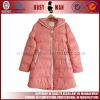 2013 fashion pink lady down jacket with hood
