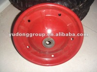 high quality wheelbarrow rim 4.00-8 with metal ball bearing
