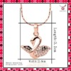 2012 New arrival.Newest product.Fashion Jewelry 18K Gold Plated Pendant Necklace