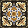 beige square natural stone floor waterjet medallion