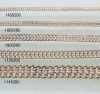 Many size men's jewelry copper metal chains with high polished