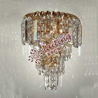 Crystal wall mounted corner lights
