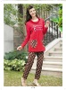 New Charming 100% Cotton Hooded Woman Pyjama (F-8007)