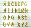 Metal alphabet letters 26 letters, brass material, English letters