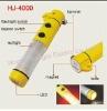 HJ-4000 auto ABS led emergency flashlight