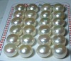 wholesale 13-14mm white freshwater pearl earring beads