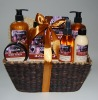 Chocolate Series Bath Gift Set, shower gel, bath salt, body scrub(13HJCO-003)