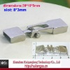 8*3mm slot stainless steel T clasp