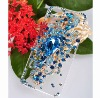BLUE 3D Angel's Tear Bling Diamond Crystal Hard Case Cover for iphone 5/5g