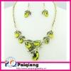 Vintage Grape Necklace Costume Jewelry set