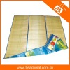 folded straw beach mat for outdoor mat
