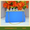 Silicone Lady's bag with Silver chain silicone bag for women