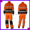 Engineering In Men And Women Take Long Sleeves Reflective Overalls Blue Boiler Suit