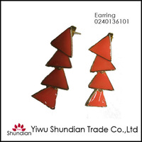 2013 top fashion long dangle triangle earrings made in China