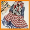 new ear flag pattern pashmina shawl