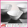 Triangle White Porcelain Bowls