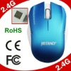 With Rubber material surface 2.4G RF promotional wireless mouse