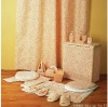 polyester shower curtain and bathroom set