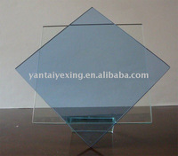 Jade Glass Plaque combined with blue glass on Base H21.5 cm