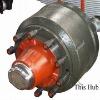 Auto axle-FUWA brake drum&wheel hub