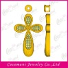 Fashion brass pendant jewelry in gold plating