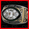 Good championship ring with hand set stones and one piece style